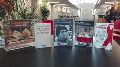 -DIA MUNDIAL DE LA SIDA- Del 30 de novembre al 6 de desembre a la BCUM:  Arenas, R. Antes que anochezca: autobiografía. http://cataleg.upc.edu/record=b1188654~S1*cat. Bellatin, M. Salón de belleza.  http://cataleg.upc.edu/record=b1349996~S1*cat. Lapierre, D. Más grandes que el amor. http://cataleg.upc.edu/record=b1297643~S1*cat. Sontag, S. El SIDA y sus metáforas. http://cataleg.upc.edu/record=b1279819~S1*cat.