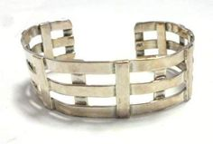 shopgoodwill.com: 28.1 Grams! 925 Sterling Silver Crafted Bracelet