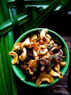 Sri Lankan Cashew stir-fry, serve as side-dish, a crunchy topping for your favorite dishes or with crusty, italian bread as a cold appetizer.