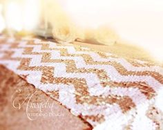 Sequin Chevron Table Runners 44% off retail