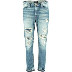 Scotch & Soda L'Adorable - Jean Jenie ($100) ❤ liked on Polyvore featuring jeans, pants, bottoms, denim, denim blue, distressed jeans, torn jeans, boyfriend fit jeans, ripped boyfriend jeans and destroyed jeans