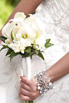 White Wedding Flowers, Travis J Photography