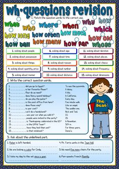 Wh-questions - revision Language: English Level/group: pre-intermediate School subject: English as a Second Language (ESL) Main content: Wh questions Other contents: Teaching English Grammar, English Vocabulary, English Lessons, Learn English, Wh Questions, This Or That Questions, English Units, English Exercises, English Activities