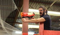 A place where friends and family can battle in this indoor Nerf War facility with state-of-the art equipment Nerf War, North York, Pumping, Archer, Teamwork, Battle, Action, Toronto, Fun