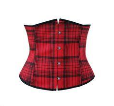 Boned plaid tartan under bust corset.  $21.95 Free worldwide shipping at califorward.storenvy.com