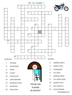 This simple crossword puzzle features 26 words that are similar in here is a little crossword puzzle for your city learning fun ccuart Gallery