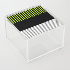 Colour Pop Stripes - Lime Green Acrylic Box by laec Colour Pop, Color, Good Advice For Life, Storage Places, White Box, Acrylic Box, Lime, Stripes, Turquoise