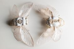 Soft Sculpture Textile Art By Mysouldesign On Etsy. Textiles, Insect Art, Brooches Handmade, Soft Sculpture, Vintage Fabrics, Fabric Dolls, Embroidery Art, Bridal Accessories, Textile Art