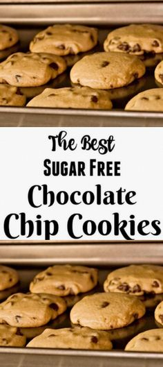 >> The Recipe For The Best Sugar Free Chocolate Chip Cookies - 33 webdeliziouso Chocolate Chip Cookies, Sugar Free Chocolate Chips, Sugar Cookies, Cure Diabetes Naturally, Diabetes Remedies, Protein Bars, Vegan Protein, High Protein, Diabetic Recipes