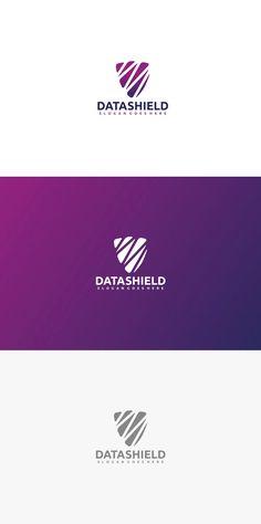 Data Shield Logo Template AI, EPS