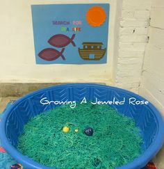 Sensory play.....Toss small toys into a pool of dyed spaghetti noodles and then the child can dig in to find all the toys!
