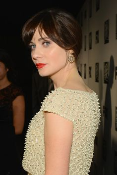 Zooey Deschanel Photos: Arrivals at Fox and FX's Golden Globes Afterparty