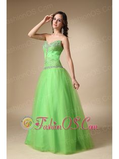 Spring Green A-line Sweetheart Floor-length Taffeta and Tulle Beading Prom Dress- $148.23  www.fashionos.com   online store sell prom dress | sweetheart beaded prom dress | 2013 spring junior prom celebrity dresses | corset style closure prom dress | where you can buy prom dress | lace up back prom dress | elegant prom party dresses | custom made sexy 2013 summer prom holiday gowns | beaded taffeta floor length prom dress |
