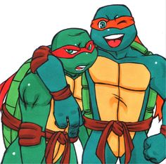 Mike and Raph by ~SK-R on deviantART