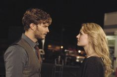 Once Upon a Time: Jamie Dornan as Sheriff Graham, Jennifer Morrison as Emma Swan. They made THE perfect couple, until Regina had to go and kill him. Oh darn her. Graham Once Upon A Time, Between Two Worlds, Time News, Colin O'donoghue, I Miss Him, Jennifer Morrison, Captain Swan, It Goes On, Emma Swan