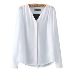 New Women 3 colors Pleated V neck office blouses brief basic solid long sleeve shirts blusa feminina work wear casual tops
