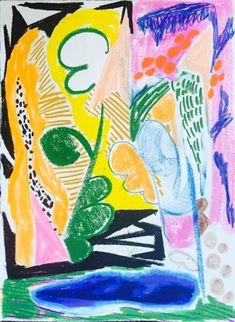 """Sunlit Closeup, 2015, Mixed media on paper, 15 x 11"""""""