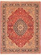 These elegant and finely crafted rugs showcase the timelessness of antique Persian designs.<br /><br />   - Field Color: Red<br />   - Border Color: Beige, Grey, Navy, Red<br />   - Knots Per Square Inch: 90
