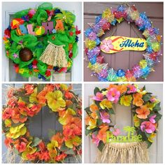 Luau wreath ideas