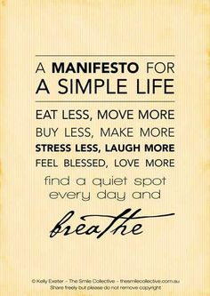 Simple way of life