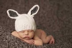 Crochet Baby Hats Knit Bunny Hat - They'll be all ears and cuteness in this darling knit hat. Just like some-bunny you love, this sweet accessory is loaded with personality. Grey Bunny, Bunny Hat, Cute Bunny, Foto Newborn, Newborn Baby Photos, Baby Bunnies, Easter Bunny, Easter Gift, Baby Hats Knitting