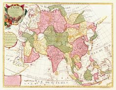 Map of Asia by Guillaume Delisle, 1700.