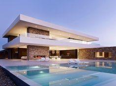 Casas modernas com piscinas home design , architecture , hou Residential Architecture, Amazing Architecture, Contemporary Architecture, Interior Architecture, Luxury Interior, Contemporary Design, Design Exterior, Modern Exterior, House Goals