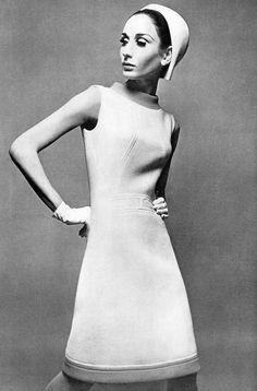 Nati Abascal in Pierre Balmain Dress, photographed by Jean Louis Guégan, 1966