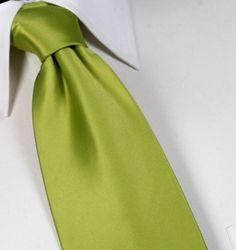 Soooooo needs to go in my hubby's tie collection!! Chartreuse Silk Satin Tie