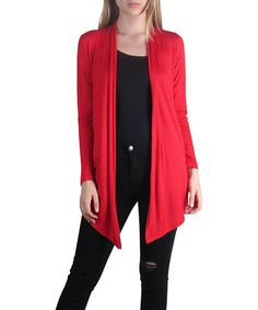 Look what I found on #zulily! Red Open Cardigan #zulilyfinds