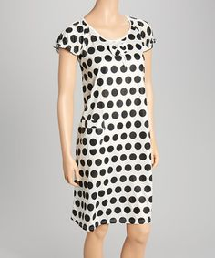 Loving this Black & White Polka Dot Nightgown - Women on #zulily! #zulilyfinds