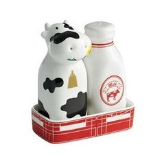 CoW and MiLK BoTTLe Salt & Pepper Shakers