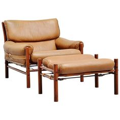 Arne Norell Kontiki Lounge Chair, Sweden, 1960 | From a unique collection of antique and modern lounge chairs at https://www.1stdibs.com/furniture/seating/lounge-chairs/