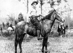 Florida Memory - Cowboy at an open range roundup near Fort McCoy - Florida