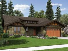 Rustic Craftsman Home Plan - 69521AM | 1st Floor Master Suite, Butler Walk-in Pantry, CAD Available, Craftsman, Northwest, PDF, Photo Gallery, Ranch, Split Bedrooms | Architectural Designs