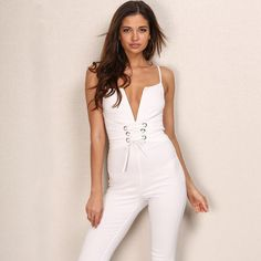 5880ba6e8869 Set To Slay White Tie Waist Jumpsuit