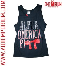 Love <3 I want this so bad, but its almost sold out and I don't have the extra money right now :'( AOII Boutique Tanks - America Tank Top <3