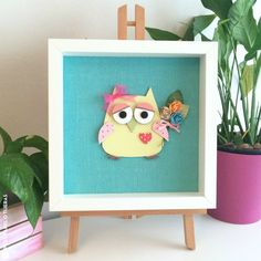Crafting ideas from Sizzix UK: Decorative owl frame for a baby room