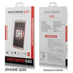 """Protector Pantalla Cristal Templado  iPhone 6S 4.7"""" 2.5D 9H CALIDAD CAJA,0,33mm¨"""