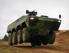 "Patria XA 360 AMV. The Finnish ""Armored Mobile Vehicle"" makes Humvees look like wheeled toaster ovens."