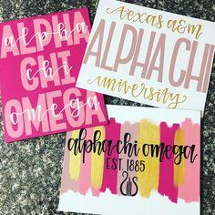 Lovin this pink AXO order 💕✨ . Alpha Phi Omega, Delta Phi Epsilon, Chi Omega, Alpha Chi, Sigma Tau, Tri Delta, Sorority Paddles, Sorority Crafts, Kappa Delta Crafts