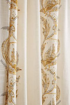 Scrolled Quills Curtain - anthropologie.com