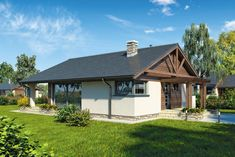 Wizualizacja AT Pelikan IV CE Full Bath, Home Values, View Photos, Gazebo, Shed, Floor Plans, House Design, Outdoor Structures, Cabin