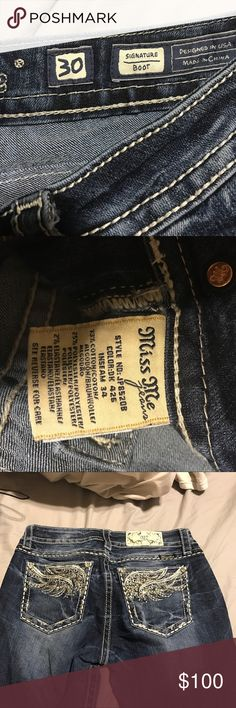 Miss Me Bootcut Jeans Size 30 x 34(inseam) dark blue Miss Me Jeans. Worn twice - too long for me. Will gladly send more pictures if you are interested. Contact me for more questions :) Miss Me Jeans Boot Cut