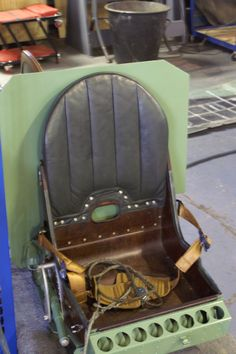 WW2 - Allied Aircraft Interiors: Early Spitfire seat.