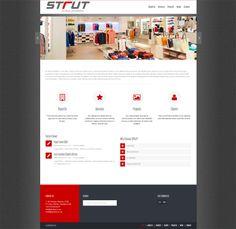 Interior and Exterior website design for Strut Turnkey Shopfitters Portfolio Web Design, Service Projects, Business Website, Interior And Exterior, Digital, Creative