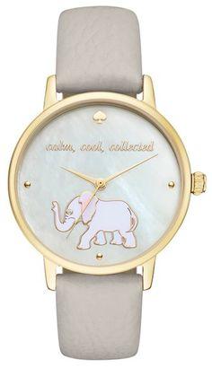 darling elephant print watch