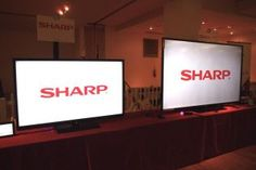 Sharp Aquos 90-inch TV dwarfs a 60-inch TV (video)