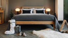 Monochrome Christmas bedroom look by Natural Bed Company Bed Company, Christmas Bedroom, Monochrome, Bedroom Decor, Warm, Black And White, Natural, Furniture, Home Decor