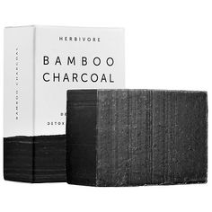 Bamboo Charcoal Detoxifying Soap Bar - Herbivore | Sephora Cleopatra Beauty Secrets, Diy Beauty Secrets, French Beauty Secrets, Beauty Products, Beauty Tricks, Acne Products, Body Products, Face Wash, Body Wash